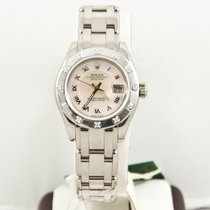 Rolex Ladys  Pearlmaster Watch  80319 Rolex MOP Roman Dial