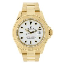 Rolex YACHT-MASTER 40mm 18K Yellow Gold Watch White Dial