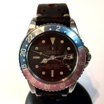 Rolex Oyster Perpetual Gmt-master Steel Mens Watch W/ Rare...