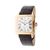 Cartier Santos-Dumont Brown Leather Mechanical Men's Watch...