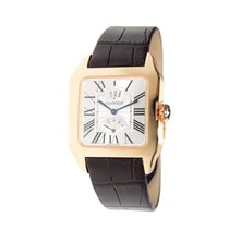 Cartier Santos-Dumont Brown Leather Mechanical Men's Watch...