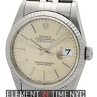Rolex Datejust Stainless Steel 36mm Silver Stick Dial Circa...