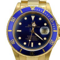 Rolex 18k Yellow gold Submariner Blue Dial Great Condition T
