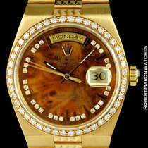 Rolex 19068 Oysterquartz Day Date President Diamonds Wood 18k