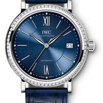 IWC Portofino Automatic 37 Stainless Steel Diamonds Blue...
