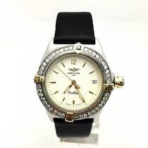 Breitling 1884 Callisto Ss  Unisex Watch W/ Rotating Diamond...