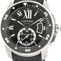 Cartier W7100056 Calibre Automatic Rotating Bezel Men BLK...