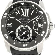 Cartier W7100056 Calibre Automatic Rotating Bezel Men BLK...