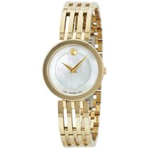 Movado Esperanza Mop Dial Gold Tone Stainless Steel Ladies...