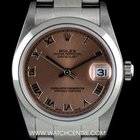Rolex Stainless Steel Salmon Roman Dial Mid-Size Datejust 78240