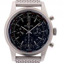 Breitling Transocean Unitime Pilot Stahl Automatik Chronograph...