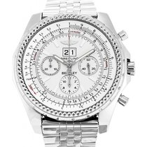 Breitling Bentley 6.75 Chronograph A44362 White Stainless...