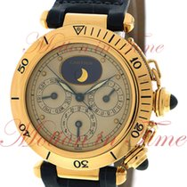 Cartier Pasha 1986 Full Calendar GMT Moonphase, Ivory Dial -...