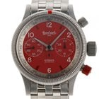 Hanhart Pioneer Red X Red Stahl Automatik Chronograph Armband...