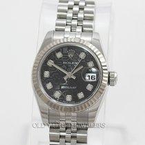 Rolex Datejust 179174 Steel Black Jubilee Diamonds