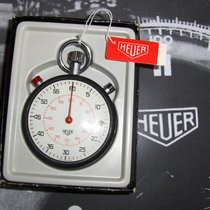 Heuer rattrapante stopwatch from the seventies with box and paper