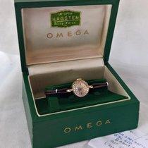 Omega 14ct solid golden vintage ladymatic, serviced