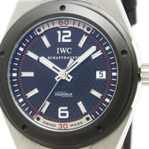 IWC Polished Iwc Ingenieur Steel Leather Automatic Mens Watch...