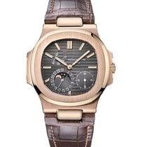 Patek Philippe Nautilus Rose Gold Leather Band Watch
