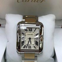 Cartier TANK ANGLAISE 3507 W5310006 XL 18K GOLD & SS...