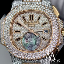 Patek Philippe Diamonds  Nautilus 2tone18k Gold Chronograph...