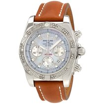 Breitling Chronomat 44 Mother of Pearl Diamond Mens Watch...