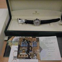 Rolex Cellini 5240 Platinum Mop 35mm Manual Wind Dress Watch. Wow