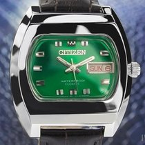 Citizen Emerald Green Vintage Mens 17 Jewels Manual Wind 1968...