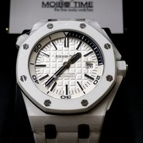 Audemars Piguet 15707CB Royal Oak Offshore White Ceramic Diver...