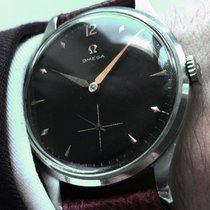 Omega Serviced 38mm Vintage Oversize Jumbo Omega watch with black