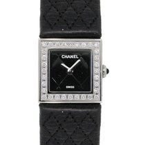 Chanel Mademoiselle Quilted Diamond Bezel Watch