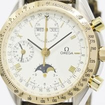 Omega Polished Omega Speedmaster Moonphase 18k Rose Gold Steel...