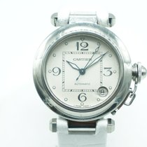 Cartier Pasha C White  Dial White Leather
