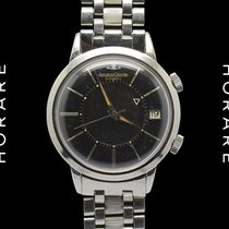 Jaeger-LeCoultre Vintage Memovox Black Dial E855 GF Band Rare