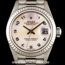 Rolex 18k W/Gold O/P Mother of Pearl Dial Datejust Ladies 79179