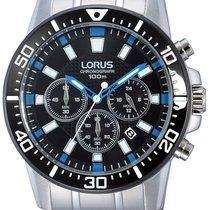 Lorus RT355DX9 Chronograph schwarzes ZB 100M 45mm
