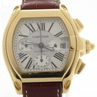 Cartier Roadster Chronograph Xl 18k Gold Mens Automatic Box...