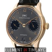 IWC Portuguese Collection 18k Rose Gold Grey Dial Year Of The...