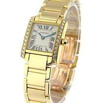 Cartier WE1001R8 Tank Francaise in Yellow Gold with Diamond...