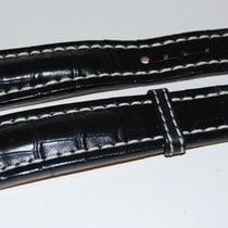 Breitling Kroko Uhrenarmband schwarz 24/22 mm