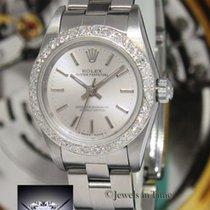 Rolex Oyster Perpetual Steel Diamond Bezel Ladies Watch...