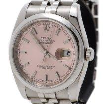 Rolex Datejust Pink Dial Stainless Steel Jubilee Bracelet