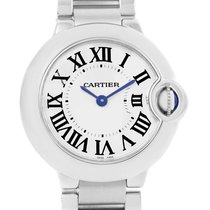 Cartier Ballon Blue Stainless Steel Small Ladies Watch W69010z4