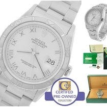 Rolex DateJust Turn-O-Graph Silver Roman 36mm 16264 Stainless 18K