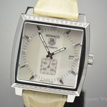 TAG Heuer Monaco Mother of Pearl Diamond SS Automatic Watch...
