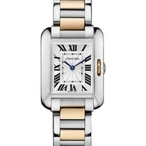 Cartier W5310019 Tank Anglaise Small in Steel and Rose Gold -...