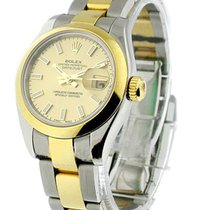 Rolex Used Datejust 2 Tone Ladys with Domed Bezel 179163