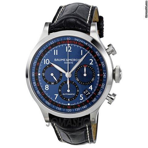 Baume & Mercier Blue Dial Chronograph Automatic Mens Watch MOA10065
