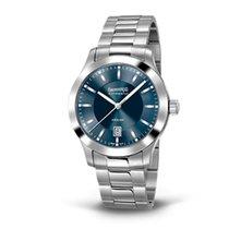 Eberhard & Co. Aiglon quadrante blu soleil, data, cinturin...