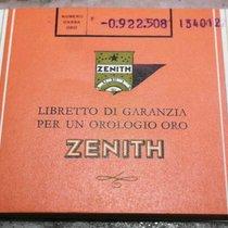 Zenith vintage orange warranty booklet watch gold newoldstock